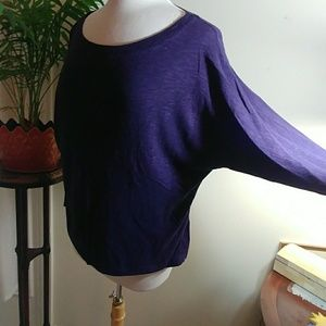 Cynthia Rowley, purple batwing top